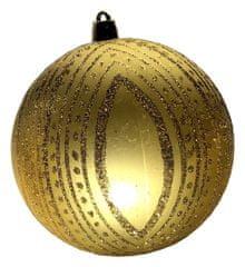 DUE ESSE zestaw złotych bombek, Ø 10 cm, 4 szt.