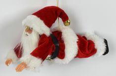 DUE ESSE božićna viseća dekoracija, leteći Djed Mraz, 18 cm