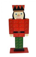 DUE ESSE drewniany kalendarz adwentowy – dziadek do orzechów, wys. 46 cm