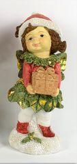 DUE ESSE dekoracja świąteczna dziewczynka z choinką, 14 cm