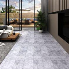 shumee Podlahová krytina PVC 5,02 m² 2 mm samolepící betonová šedá
