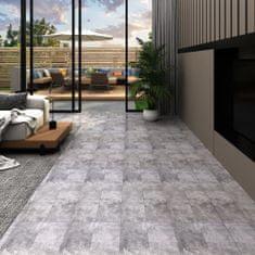 shumee Podlahová krytina PVC 5,02 m² 2 mm samolepicí betonová hnědá
