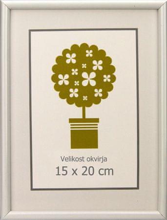 Karako Foto okvir 15x20 cm, plastika, namizni, stenski, 95 bel