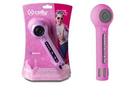 Unikatoy mikrofon + zvočnik, roza, bat. bl. 75263