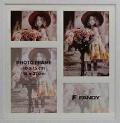 FANDY Dřevěný rámeček Style gallery na více foto 02 1 bílý