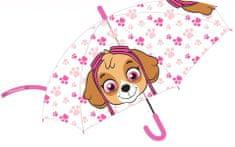 """Eplusm Mechanikus esernyő átlátszó """"Mancs örjárat"""" - rózsaszín"""