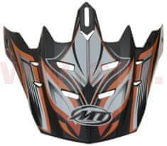 MT HELMETS kšilt pro přilby MX-1/MX-2 Technical, MT - Španělsko (oranžová/černá/bílá/šedá) MT HELMETS 181302307