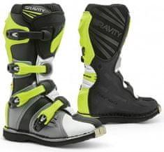FORMA Dětské moto boty FORMA GRAVITY šedo/bílo/neonově žluté (Velikost: 40) 2H940048