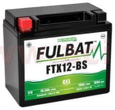 Fulbat baterie 12V, YTX12-BS GEL, 10Ah, 180A, bezúdržbová GEL technologie 150x87x130 FULBAT (aktivovaná ve výrobě) 550922