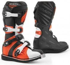 FORMA Dětské moto boty FORMA GRAVITY černo/oranžové (Velikost: 40) 2H343168