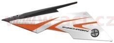 MT HELMETS kšilt pro přilby Synchrony Steel, MT - Španělsko (černá/bílá/oranžová, sada vč. šroubů) MT HELMETS 181304207
