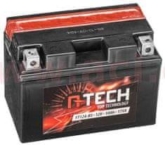 UNIBAT baterie 12V, FT12A-BS, 10Ah, 175A, bezúdržbová MF AGM 150x87x105, A-TECH (vč. balení elektrolytu) 550602