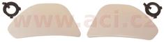 MT HELMETS boční kryty hledí pro přilby City Seven, MT - Španělsko (bílé) MT HELMETS 100-168