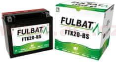 Fulbat baterie 12V, YTX20-BS, 18Ah, 270A, bezúdržbová MF AGM 175x87x155 FULBAT (vč. balení elektrolytu) 550611