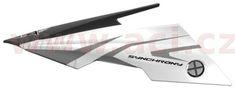 MT HELMETS kšilt pro přilby Synchrony Steel, MT - Španělsko (černá/bílá/šedá, sada vč. šroubů) MT HELMETS 181304206