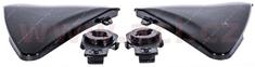 MT HELMETS boční kryty hledí pro přilby Ventus, MT - Španělsko (černé-lesklé) MT HELMETS 100-402
