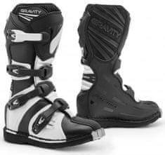 FORMA Dětské moto boty FORMA GRAVITY černo/bílé (Velikost: 40) 2H614282