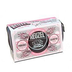Reuzel Pigs Can Fly Dopp Bag Pink pomáda 113 g + pomáda 35 g + Daily šampón 100 ml + taštička darčeková sada