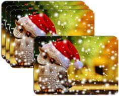 RoomDecor.eu Vianočné prestieranie-005, 4 Ks