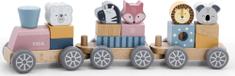 Viga drveni vlak sa životinjama