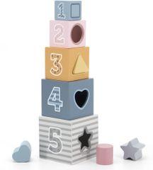 Viga lesene kocke za vstavljanje likov