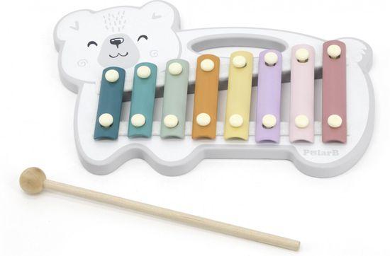 Viga Drevený xylofón polárny medveď