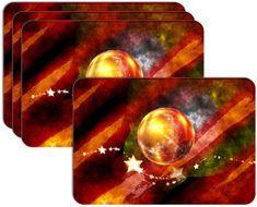 RoomDecor.eu Vianočné prestieranie-012, 4 Ks