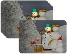 RoomDecor.eu Vianočné prestieranie-019, 4 Ks