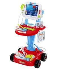 iMex Toys Lékařský vozík s vyšetřením EKG
