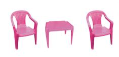 IPAE sada růžová 2 židličky a stoleček
