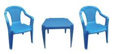 IPAE sada modrá 2 židličky a stoleček