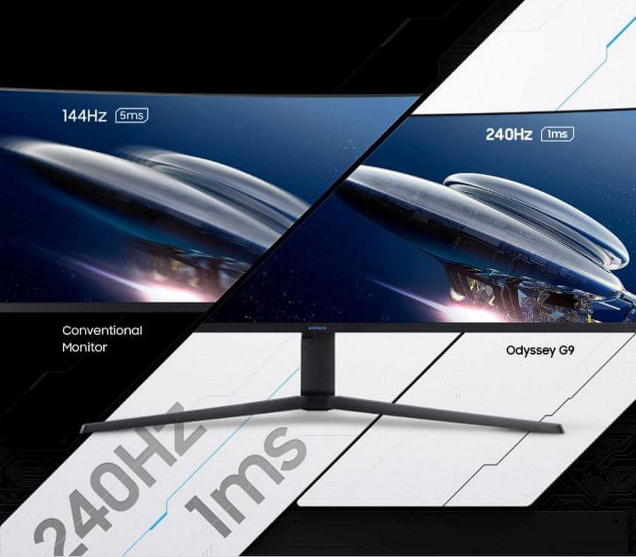monitor Samsung Odyssey G9 (LC49G95TSSUXEN) AMD FreeSync Gsync 240 hz 1 ms