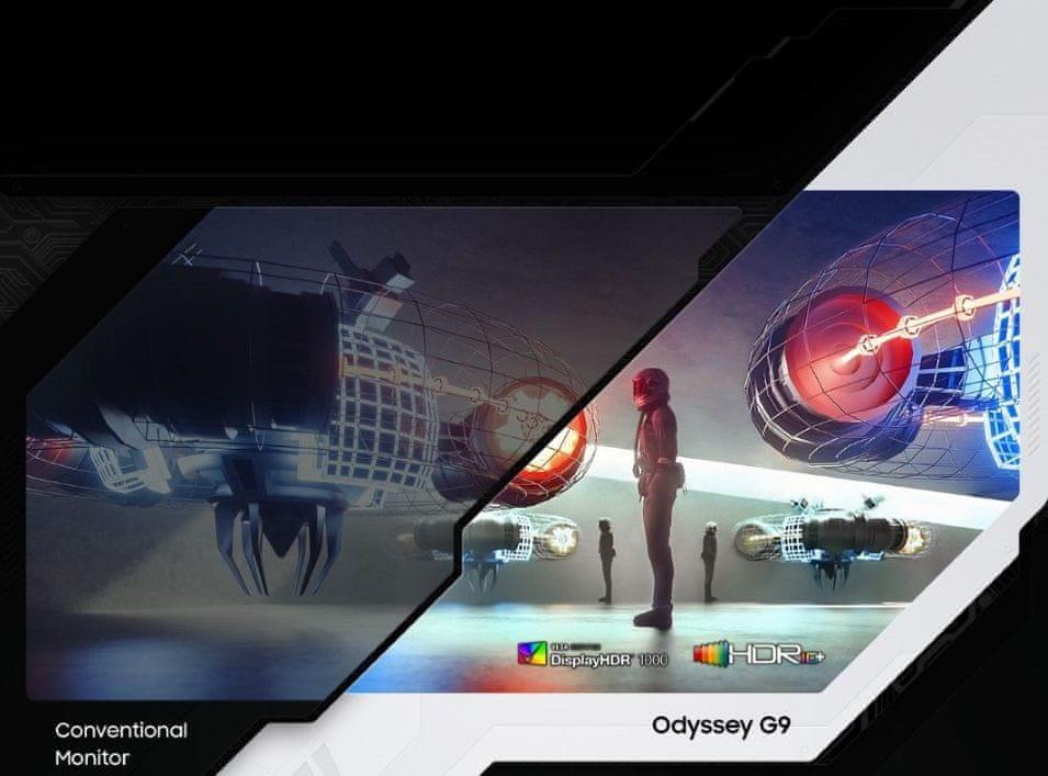 Monitor Samsung Odyssey G9 (LC49G95TSSUXEN) DisplayHDR 1000 1000 nitów jasność wysoki zakres dynamiki