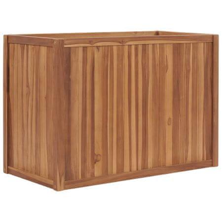 shumee Podwyższona donica 100x50x70 cm, lite drewno tekowe