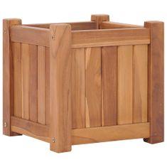 shumee Vyvýšený záhon 30 x 30 x 30 cm masivní teakové dřevo