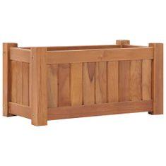 shumee Vyvýšený záhon 50 x 25 x 25 cm masivní teakové dřevo
