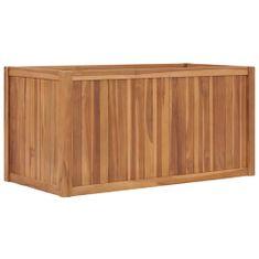 shumee Vyvýšený záhon 100 x 50 x 50 cm masivní teakové dřevo