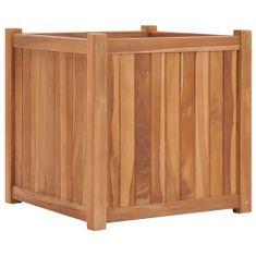shumee Vyvýšený záhon 50 x 50 x 50 cm masivní teakové dřevo