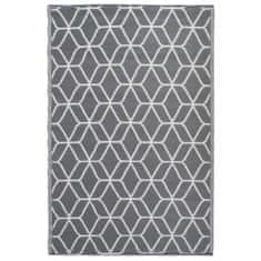 shumee Esschert Design szürke-fehér mintás kültéri szőnyeg 180 x 121 cm OC25