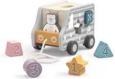 Viga Fa formaillesztő és húzható játék - kamion