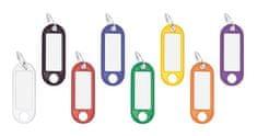 WEDO Visačky, menovky na kľúče, 8 farieb, 100 ks