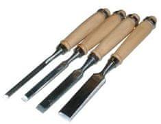 Dehco tools Dláto rezbárske sada drevená rukoväť 4díly
