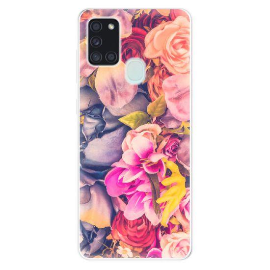 iSaprio Silikónové puzdro - Beauty Flowers pre Samsung Galaxy A21s