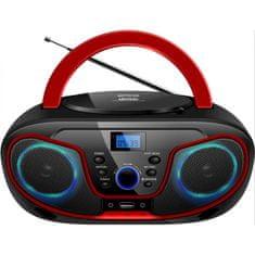 Silva MPC 19.4 prijenosni radio, USB, crno-crveni