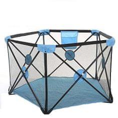 Tavalax Turistické postieľky/cestovná prenosná detská posteľ, Modrá