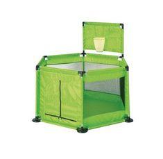 Tavalax Turistické postieľky/cestovná prenosná detská posteľ, zelený košík