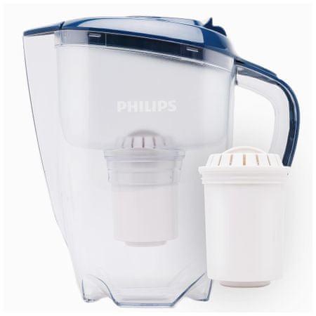 PHILIPS Vízszűrőkanna AWP2922/10, digitális időzítő, kék