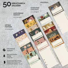 Záložkodeník Doplňková sada kreativních knižních záložek č. 01