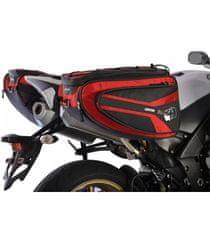 Oxford Bočné brašne na motocykel P50R, OXFORD - Anglicko (čierne / červené, objem 50 l, pár)