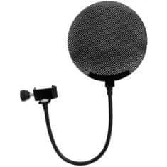 Omnitronic Mikrofónny pop filter, kovový, čierny